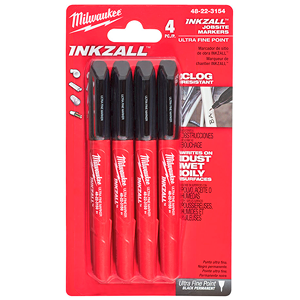 Маркер MILWAUKEE INKZALL™ Ultra Fine Point